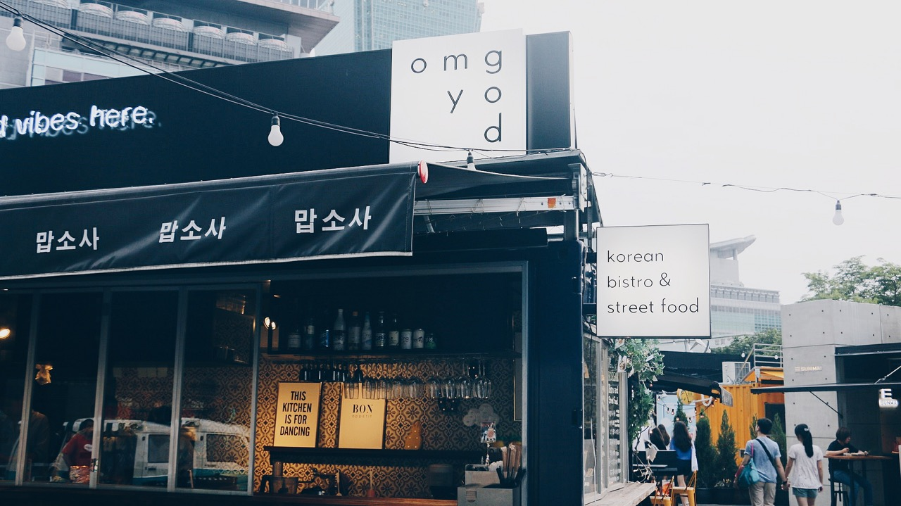 O MY GOD Korean Bistro & street food vs Cass 啤酒