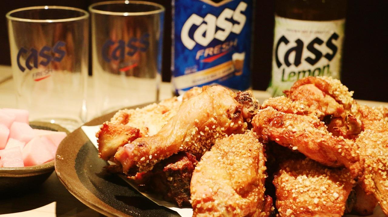 OvenMaru 烤頂雞 vs Cass 啤酒